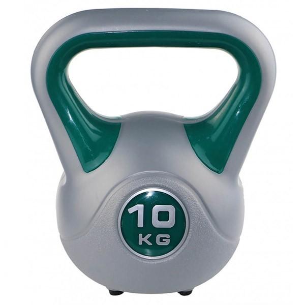 Kettlebell kg 10 per home fitness, colore verde