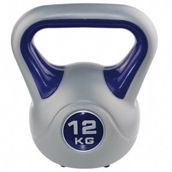 Kettlebell kg 12 per home fitness, colore blu