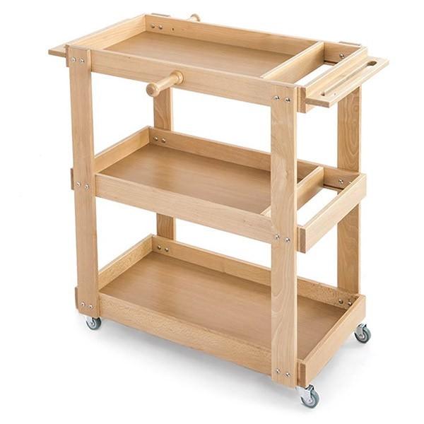 Carrello in legno per piccoli attrezzi