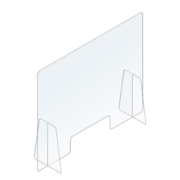 Schermo protettivo parafiato trasparente 80x66 cm