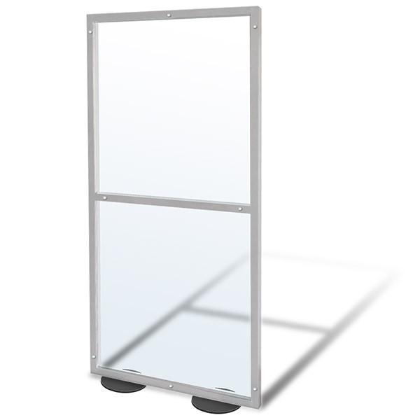 Barriera protettiva modulare trasparente 200x100 cm