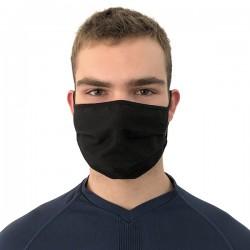 Mascherina regolabile riutilizzabile colore nero