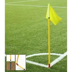 Set di 4 bandierine per calcio d'angolo snodate per calcio e rugby