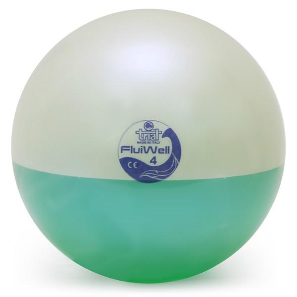 Fluiwell 4 kg, palla medica dinamica colore verde