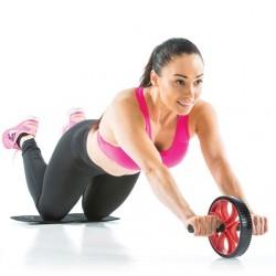 esercizi addominali, pettorali e spalle con roller