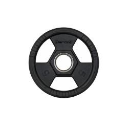 Disco gommato olimpico da 5 kg, foro 50 mm Tri-Grip