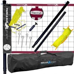 Impianto volley trasportabile per prato Spiker Pro completo di borsa e pallone