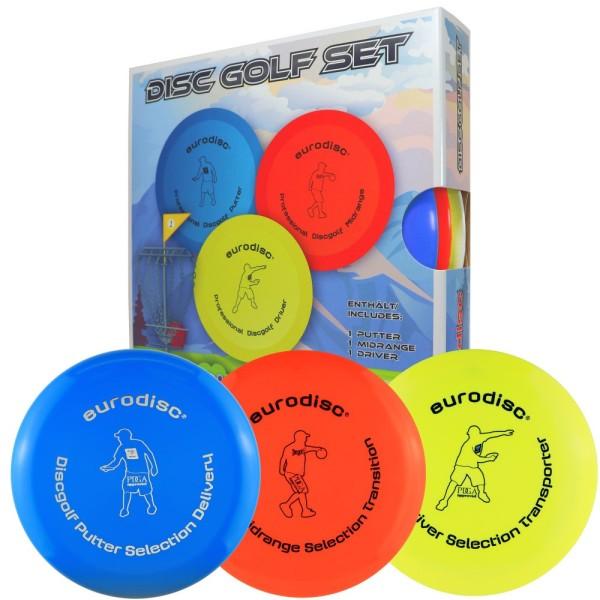 Set di 3 dischi per Disc Golf omologati PDGA