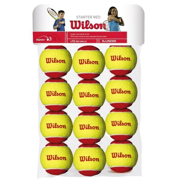 Confezione 12 palle Wilson Starter Red