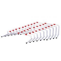 Serie di 10 ostacoli Over - da 12 a 30 cm.