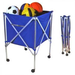 cesto porta palloni volley pieghevole