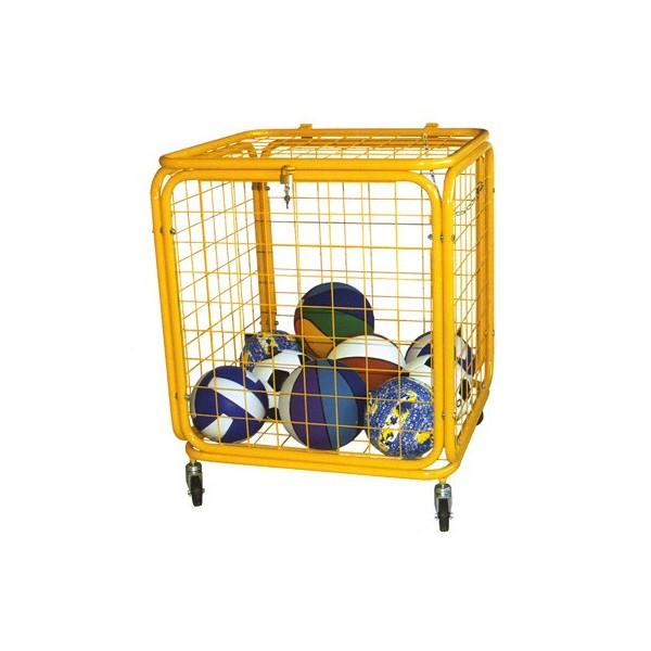 carrello porta palloni in acciaio