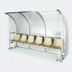 Panchina per allenatori e riserve in alluminio